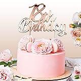Cake Topper 18 Anni per Torta Festa Compleanno 18 Anni Ragazza   Addobbi e Decorazioni Auguri Anniversario con Numero   Idea Regalo Birthday Torta Decorativa Diciottesimo (Rosa Gold)