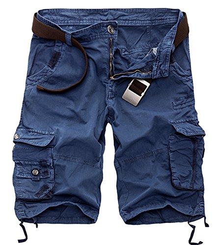 AYG Pantalones Cortos Militares Hombre Camuflaje Bermudas Cargo Pantalón Cortos