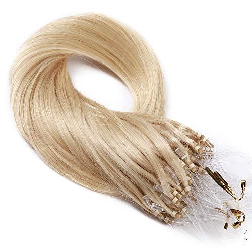 TESS Microring Extensions Echthaar 1g Loop guenstig Haarverlängerung Remy Human Hair Extensions Glatt 50 Strähnen 50g 18