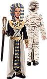 EUROCARNAVALES Disfraz Doble de Faraón Egipcio y Momia para niño