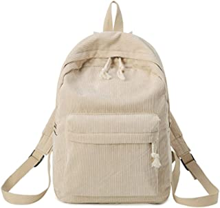 XHHWZB Literary Corduroy Backpack - Small Fresh Shoulder Bag, Cute High School Student Bag