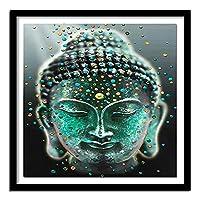 モザイクアート ハンドメイド 仏頭A 5D ダイヤモンド絵画 壁の装飾 ホーム装飾 クリスタル ラインストーン,全面貼り付けタイプ 手芸 30x40cm