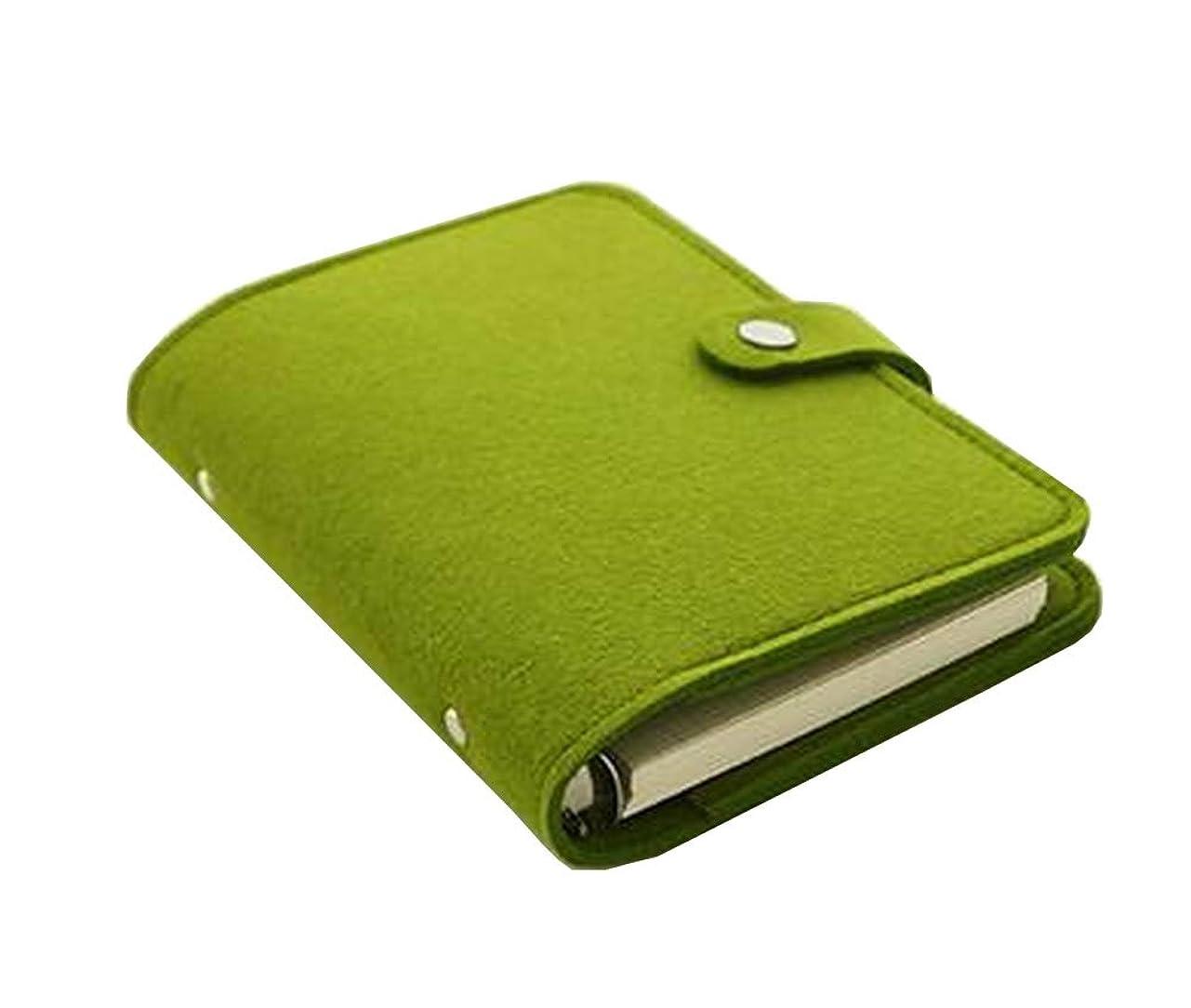 疲労値する契約するフェルトデタッチャブルノートブックポータブルノートクリエイティブノート[緑]