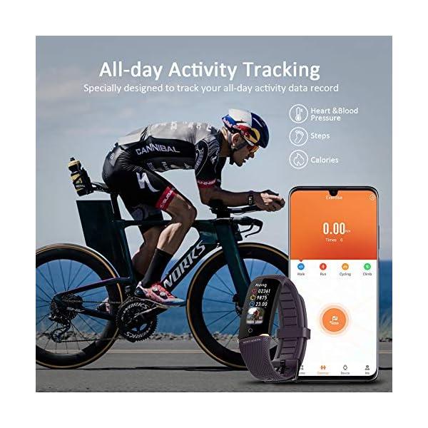 Byttron Fitness Tracker, Reloj Impermeable de Seguimiento de Actividad con Monitor de frecuencia cardíaca, Monitor de… 2