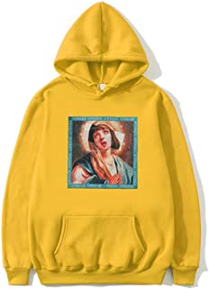 HOSD New Virgin Mary Print Sudadera con Capucha para Hombre Funny Streetwear Hombres/Mujeres Otoño Invierno Sudaderas con Capucha Casual Sudaderas Jerseys Tops