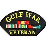 Gulf War Veteran Hat Patch Black & Yellow 2 3/4'