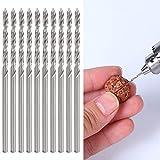 Broca helicoidal de 10 piezas, juego de brocas helicoidales pequeñas de 1,75 mm para suministros industriales