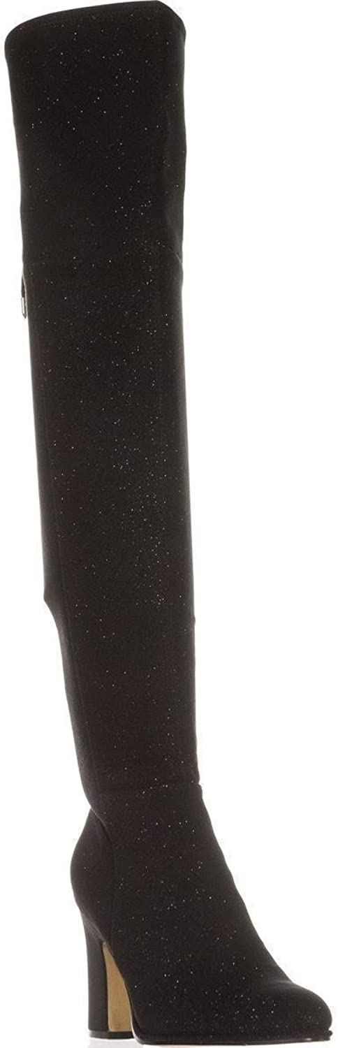 Marc Fisher Neela Over The Knee Back Lace Boots, Black