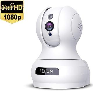 Lefun ネットワークカメラ1080P 200万画素 ベビーモニター IP監視防犯カメラ 高解像度 無線ワイヤレス屋内カメラ 【wifi 強化 遠隔スマホ操作 動体検知 警報通知 双方向音声 暗視機能 録画可能 技適済み ホワイト