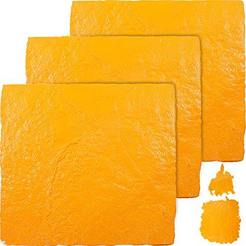 VEVOR Molde para Estampado de Cemento Poliuretano, 91,4 x 91,4 cm 4...