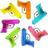 German-Trendseller  - 6 x Pistolets à Eau┃Couleur Transparent ┃Pool Party┃Petit Cadeau┃ l'anniversaire d'enfant┃Jeu de...