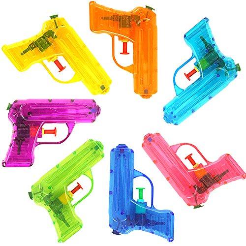 German Trendseller® - 1 x Wasserpistole Transparent ┃ NEU ┃ Mitgebsel ┃ Kindergeburtstag ┃ Kinder Pool Party