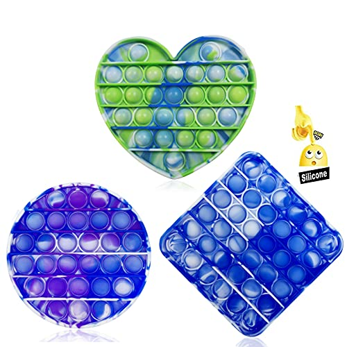 3PC Pop Bubble Fidget Sensory Toy ,a Special Multi Shaped High Grade Soft Silicone Extrusion Toy...