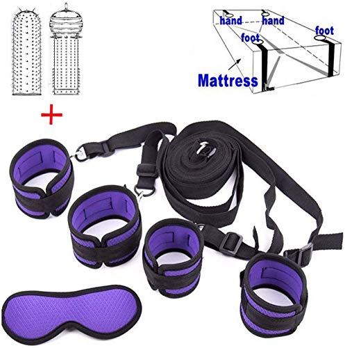 Best Prices! POPBBIE Soft Women's Bed Tied up Straps,Neoprene Padded Gym Set,Purple