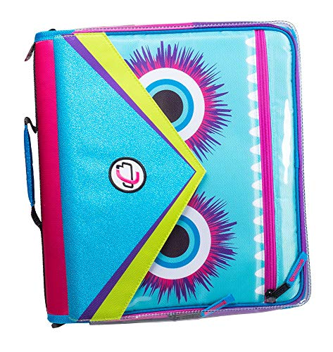 Case it LT-307-ME Universal Monster Eye Zipper Binder with Removable Laptop Sleeve, 2-Inch O Rings, Shoulder Strap, Magenta (LT-307-ME-MAG)