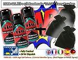 Farbgel Criminel ID Spray/Vaporisateur autodéfense x3 avec x3 Faite à la Main Noir...