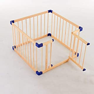 L TSA Baby Playpen Safety Fence with Balls and Crawling Mat  Wood Playground for Toddler Kid  Kids Activity Centre
