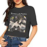 Florence and The Machine Shirt Women's Sexy Exposed Navel T-Shirt Girls Novelty Crop Tops Blouse Black