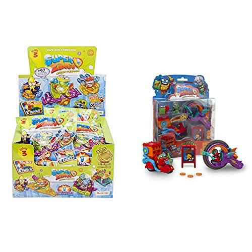 Superzings Serie 3 Display De 24 Figuras Coleccionables + Serie 2 Blíster Pizza Mission Con 2 Figuras Exclusivas: El Superhéroe Supperoni Y El Supervillano Circutlar