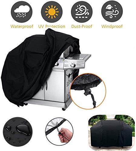 Parasol Barbecue Couverture avec 3-Sided Grill Brosse, Heavy Duty gaz BBQ extérieur imperméable Grill Cover, étanche Anti-poussière Tissu Oxford BBQ Grill Cover, 100cm x 60 cm x 150 cm