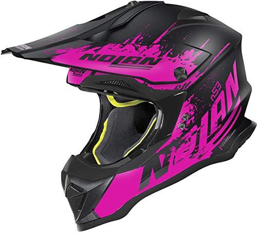 Nolan N53 Savannah Casco Motocross Nero/Pink M (58)