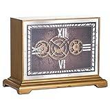 Hill 1975 Horloge de cheminée avec mécanisme de Mouvement Miroir, Verre, Bois, Multicolore, Taille Unique