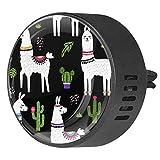 Josid, deodorante per auto a forma di llama, cactus, deodorante per auto, diffusore per aromaterapia, clip regalo, 40 mm