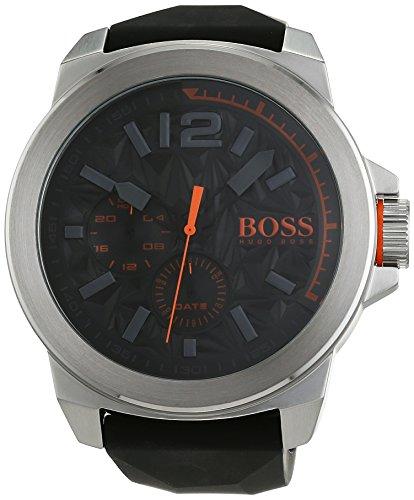 Jefe Nueva York multieye Caballeros-Reloj Naranja de Silicona de Cuarzo analógico 1513346