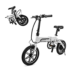 SWAGTRON Swagcycle EB-5 Lightweight & Aluminum Folding Ebike with Pedals, White, 58cm/Medium (B07BNVST4P) | Amazon price tracker / tracking, Amazon price history charts, Amazon price watches, Amazon price drop alerts