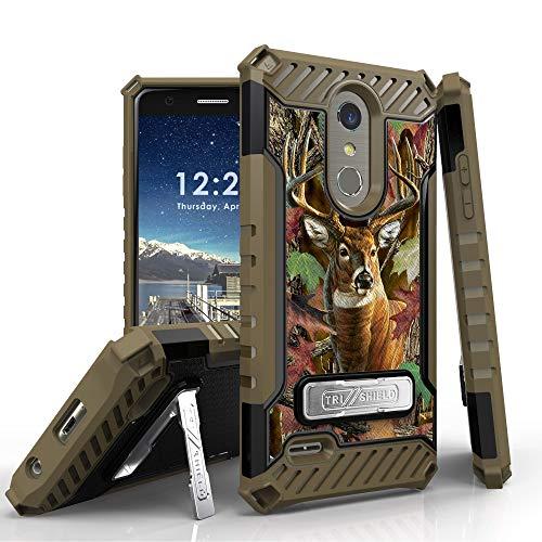 Military Grade Shockproof Hybrid Cover Dual Layered Case Compatible with LG K30 (X410) / K10 2018 / Premier Pro (L413DL) / Phoenix Plus/Harmony 2 / Xpression Plus - Buck Camo