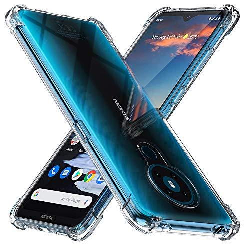 Peakally Nokia 5.3 Hülle, Soft Silikon Dünn Transparent Hüllen [Kratzfest] [Anti Slip] Durchsichtige TPU Schutzhülle Case Weiche Handyhülle für Nokia 5.3-Klar