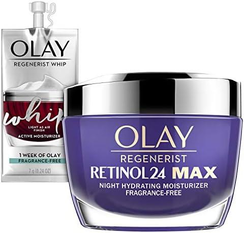 Olay Regenerist Retinol 24 Max Moisturizer Retinol 24 Max Night Face Cream Oz Whip Face Moisturizer product image