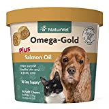 NaturVet – Omega-Gold Plus Salmon Oil – Supports Healthy Skin & Glossy Coat – Enhanced with...
