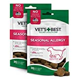 Vet's Best Seasonal Allergy Soft Chew Dog Supplements | Soothes Dogs Skin Irritation Due to Seasonal...