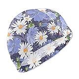 Bonnets de Bain Nchicory Floral Vector Daisies, Haute élasticité, Aucune Utilisation de déformation, Protection UV, Bonnet de Bain Confortable