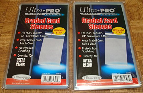400 Ultra Pro Graded Card Submission Semi Rigid 1//2 Lip Tall Sleeves with Storage Boxes