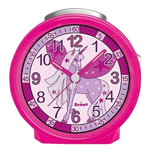 Scout Wecker, Kunststoff, pink, rund
