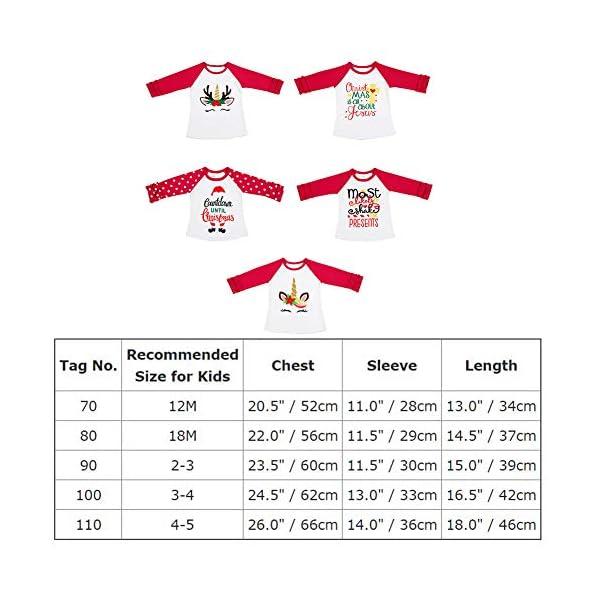 Girls Icing Lotus Ruffle Cotton T-Shirt Long-Sleeve Cuff Undershirt School Tee Christmas Raglan Casual Blouse 7