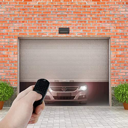 Abrepuertas de garaje remoto de 2 botones, resistente teledirigido, compatible con Came TOP 432NA/432 SA/432 M, distancia de transmisión entre 50 y 100 M, 1 paquete con batería (negro)