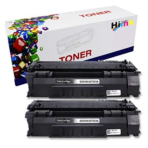 HIINK Compatible Toner Cartridge Replacement for HP 49A Toner Q5949A use with Laserjet 1160 1160Le 1320 1320n 1320nw 1320t 1320tn 3390 3392 Printers (2-Pack)