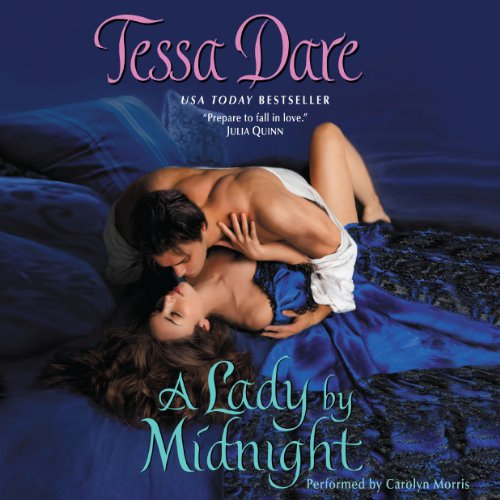 A Lady by Midnight     Spindle Cove, Book 3              By:                                                                                                                                 Tessa Dare                               Narrated by:                                                                                                                                 Carolyn Morris                      Length: 10 hrs and 51 mins     260 ratings     Overall 4.4