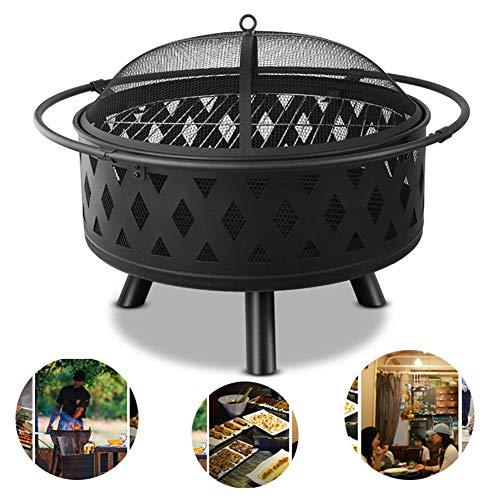 APXZC Multifunctionele Draagbare Outdoor Houtskool Barbecue Brazier, Rond Ontwerp, Duurzaam slijtvast Hittebestendig, Voor Familie Feest Camping Tuin Picnic