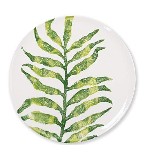 Vietri Into The Jungle Arica Palm Leaf Dinner Plate