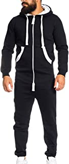 Unisex Hooded Jumpsuit, One-Piece Garment Non Footed Pajama Playsuit Blouse Hoodie Romper
