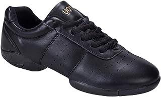 bf2afbd9ab36ea uirend Sport Danse Chaussures Femme - Femmes Basses Mesh Cuir Lacets Split  Semelle Baskets Modern Jazz