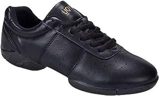 Yudesun Femme Outdoor Sport Danse Chaussures Femmes Basses Mesh Cuir Lacets Split Semelle Baskets Modern Jazz Sneakers Trainer Fitness Gym Gymnastique Yoga Les Chaussures sont Plus Petites