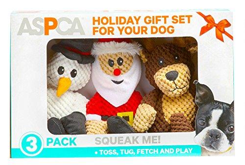 ASPCA 3-Pack Christmas Holiday Plush Dog Toys