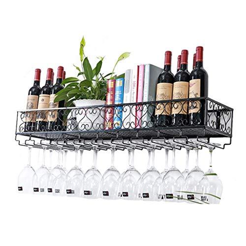 HLWJXS Estante de Alenamiento para Vino Estante para Botellas Y Vidrio Montado en la Pared Decoración de Cocina para el Hogar Estante de Alenamiento Estante de Exhibición de Decoración de Barra Estan