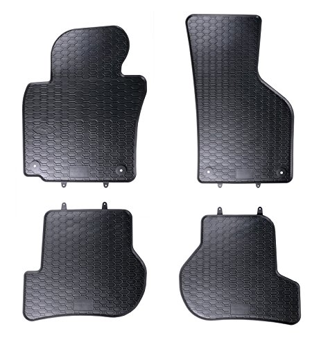 DAPA Prime Gummimatten Gummi Fußmatten Komplettset Schwarz perfekt passend mit Rand 1103427