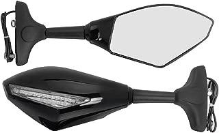 Amber LED Turn Signal Blinker Light Side Mirror for Suzuki Racing Bike GSXR 1000